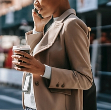 Woman using Unified Communications as a Service (UCaaS)