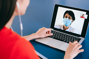 Healthcare professionals are using Teams to connect with patients.