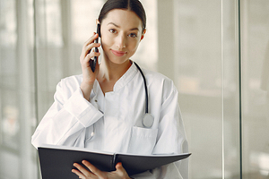 Physicians can take their office number with them anywhere.