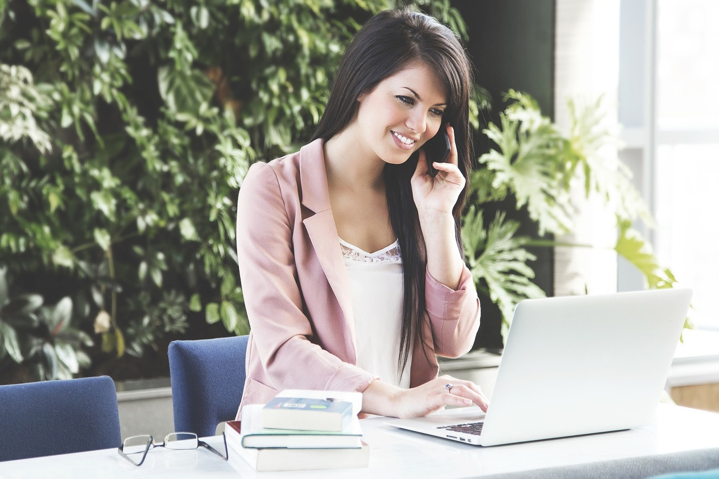 Woman on a Business Call