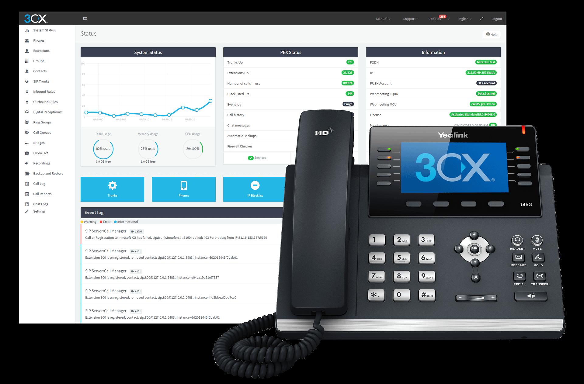 3CX Desk Phone